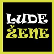LUDE ŽENE..Sticker logo