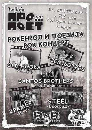 """Kramer.Zemljotres.Santos Brothers.Steel.Old Hooks..Inđija """"ProPoet Fest"""""""