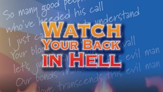 DAVID MASSEY..Watch Your Back IN Hell..Cover